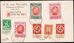 1915. RED CROSS 3 Ex BAARLE-HERTOG BAARLE-DUC 26 III 15. Rec.  (Michel: 110-112+) - JF182087 - Belgien