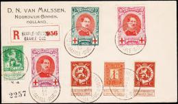 1915. RED CROSS 3 Ex BAARLE-HERTOG BAARLE-DUC 26 III 15. Rec.  (Michel: 110-112+) - JF182089 - Belgien