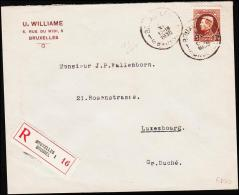 1935. 5 Fr. Albert I. BRUXELLES 8 XI 1935. Rec. To LUXEMBURG VILLE 9.11.35. (Michel: 186) - JF182096 - Belgien