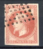 Colonie Francesi, Emissioni Generali 1871-72 N. 10 C. 80 Rosa Usato - Napoleon III