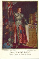 IMAGE PIEUSE RELIGIEUSE HOLY CARD SANTINI Chromo : Sainte Jeanne D'Arc Tableau D'Ingres Au Musée Du Louvre - Artis Historia