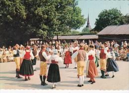 Sweden Stockholm Folk Dancers In Traditional Costume