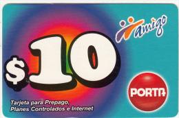 ECUADOR  - Amigo, Porta Prepaid Card $10, 02/09, Used