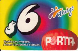ECUADOR  - Amigo, Porta Prepaid Card $6, Used - Ecuador