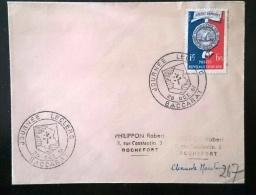 FRANCE 2eme Guerre Mondiale, Cachet Temporaire JOURNEE LECLERC BACCARAT 28 Octobre 1951. Croix De Lorraine - 2. Weltkrieg
