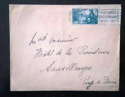 FRANCE Yvert N° 452 Seul Sur Lettre. Pour SAUXILLANGES Cachet Arrivée Au Dos - Marcophilie (Lettres)