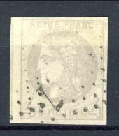 Colonie Francesi, Emissioni Generali 1872-77 N. 16 C. 4 Grigio Usato, Grandi Margini - 1870 Emission De Bordeaux