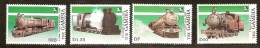 Gambia Gambie 1989 Yvertn° 833-36 *** MNH Cote 60 FF Chemin De Fer Trainen Trains - Gambie (1965-...)
