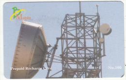 BHUTAN - Satellite Dish, Bhutan Mobile Prepaid Card Nu.100, Used - Bhutan