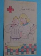 Lave Toi Les DENTS ( Ed. Par Le Croix Rouge De La Jeunesse De Belgique ) Anno 1929 ( Zie Foto Voor Details ) !! - Croix-Rouge