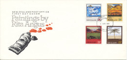 New Zealand FDC 6-4-1983 Paintings By Rita Angus Complete Set Of 4  With Cachet - FDC