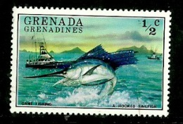 Grenada Grenadines 1976 - Scott 153 (MNH) Ships Fish - Grenada (1974-...)