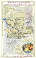 TCHAD , carte departementale Aiguebelle + descriptif au dos , * 256 28