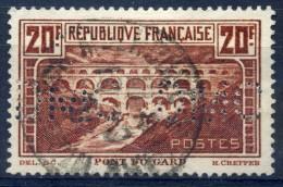 FRANCE 1931 PERFORE PONT DU GARD YVERT N° 262 PERF DMC - France