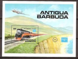Antigua Et Barbuda 1986 Yvertnr Bloc 110 *** MNH Cote 12 Euro Chemin De Fer Treinen Trains - Antigua Et Barbuda (1981-...)