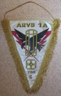 Fanion Armée - ARVB 1A TGN Salissure En Haut à Gauche 17,5x26 - Flags