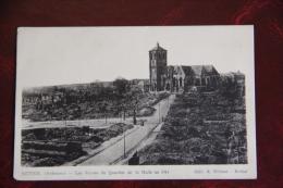 RETHEL - Les Ruines Du Quartier De La Halle En 1914 - Rethel