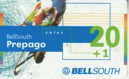 PERU - Cyclism, BellSouth Prepaid Card S/. 20+1, Exp.date 08/02, Used - Peru