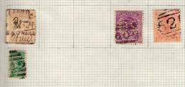 VICTORIA - COLONIE BRITANNIQUE : TIMBRES DE SERVICE PERF O S AND TAX - 1850-1912 Victoria