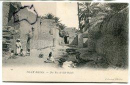 - 44 - Algérie - Vieux BISKRA - Une Rue De Sidi-Maleck, Animation, Enfants, Non écrite, TBE, Ancienne, Scans. - Biskra