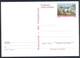 Austria Österreich Postal Stationery Card 1988: Burg Grein Oberosterreich; Castle, Château; Castillo - Castles