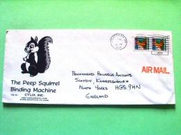 USA 1987 Cover Atlanta To England - Christmas - Squirrel Logo - Etats-Unis