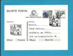 TOMAR - 22.05.1982 - 1.ª Mostra Filatélica - Postmark Stationery Card - Portugal - 2 Scans - Enteros Postales