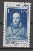 Vaticano - 1936 -  Esposizione Mondiale Stampa Cattolica - 1,25 Lire * - Nuevos