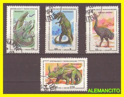 DINOSAURIOS SELLOS  DIFERENTES VALORES Y  PAISES  4 UNIDADES - Madagascar (1960-...)