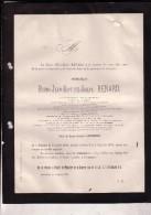 TOURNAI BRUXELLES Bruno RENARD Lt-général Aide De Camp Léopold II 1804-1879 Ancien Ministre Guerre GRAND Orient - Todesanzeige