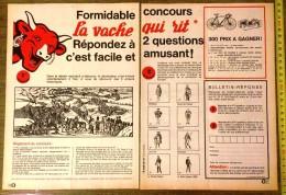 PUB PUBLICITE LA VACHE QUI RIT DE BENJAMIN RABIER CONCOURS DOUBLE PAGES - Collections