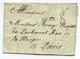 MP CALAIS  Lenain N°3 / Dept 61 Pas De Calais /  Ind 17 Côte  250€ - Marcophilie (Lettres)