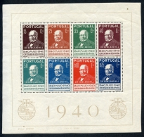 Portugal, 1940, Stamp Centenary, Rowland Hill, MNH Souvenir Sheet, Michel Block 3 - Non Classés