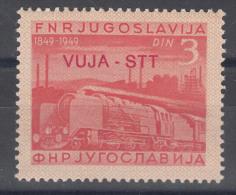 Italy Yugoslavia Trieste Zone B, Trains 1950 Mi#32, Sassone#20 Mint Hinged - 7. Trieste