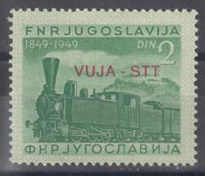 Italy Yugoslavia Trieste Zone B, Trains 1950 Mi#31, Sassone#19 Mint Hinged - 7. Trieste