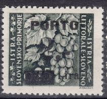 Istria Litorale Yugoslavia Occupation, Porto 1946 Sassone#15 Overprint II, Mint Hinged