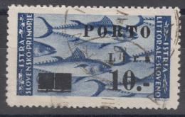 Istria Litorale Yugoslavia Occupation, Porto 1946 Sassone#17 Overprint II, Used