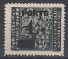 Istria Litorale Yugoslavia Occupation, Porto 1946 Sassone#16 Overprint II, Mint Hinged