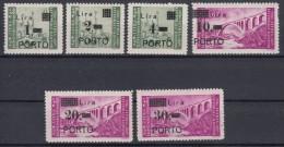 Istria Litorale Yugoslavia Occupation, Porto 1946 Sassone#8-13 Complete Set, Sassone#11 Moved Ovpt, Mh