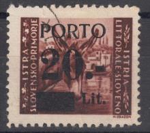 Istria Litorale Yugoslavia Occupation, Porto 1945 Sassone#5 Overprint I, Used
