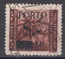 Istria Litorale Yugoslavia Occupation, Porto 1945 Sassone#3 Overprint II, Used
