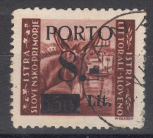Istria Litorale Yugoslavia Occupation, Porto 1945 Sassone#3 Overprint I, Used