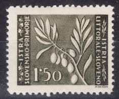 Istria Litorale Yugoslavia Occupation, 1945 Sassone#44 Mint Hinged