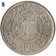Morocco , Marokko , Maroc 1/2 Riyal Paris 1336 AH Silber Münze - Coin . 5 - Maroc