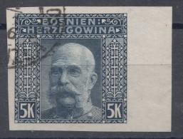Austria Occupation Of Bosnia 1906 Mi#44 U, Imperforated, Used - Used Stamps