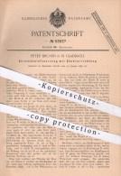 Original Patent - Peter Brunen In Mönchengladbach , 1897 , Streichholz - Feuerzeug Mit Zündung , Feuer , Streichhölzer - Historische Dokumente