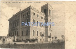 25646 ITALY LORETO ANCONA VILLA TENORE BONCI SPOTTED  POSTAL POSTCARD - Italia