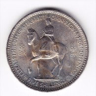 1953 Great Britain Five Shillings Crown Coin - 1902-1971 : Post-Victorian Coins