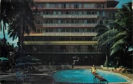 258691-Hawaii, Waikiki, Edgewater Hotel, Swimming Pool, Selithco No 657 - Oahu