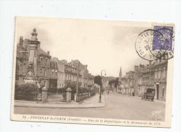 Cp , 85 , FONTENAY LE COMTE , Rue De La République Et Le Monument De 1870 , Militaria , Voyagée - Fontenay Le Comte